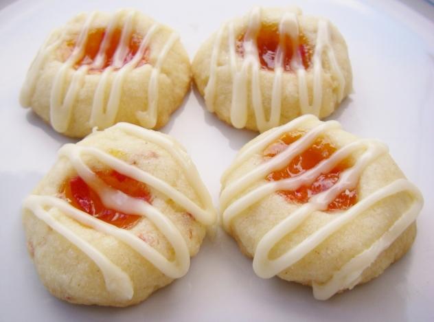 Nasturtium fingerprint cookies