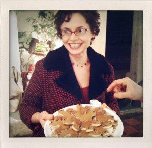 Moriah Van Vleet with squirrel-shaped cookies