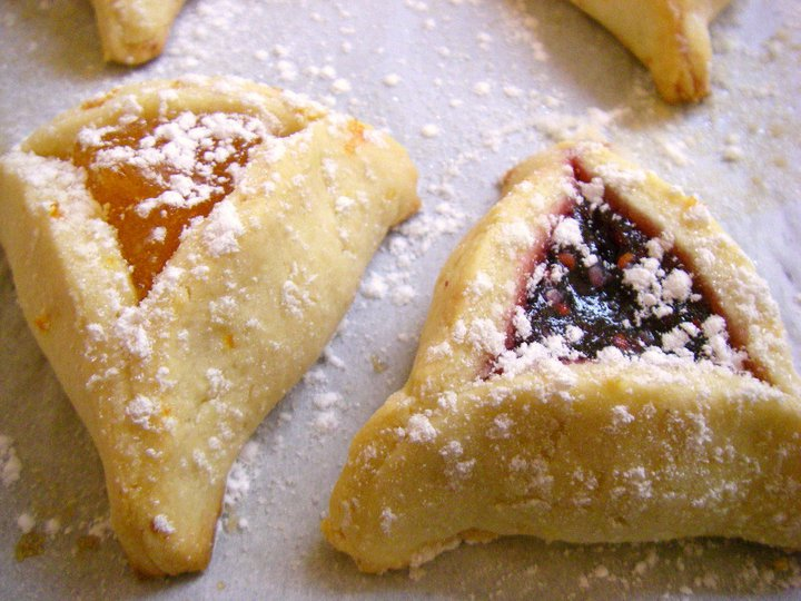 Sweet Purim: Hamantaschen Cookies | butter, sugar, flowers