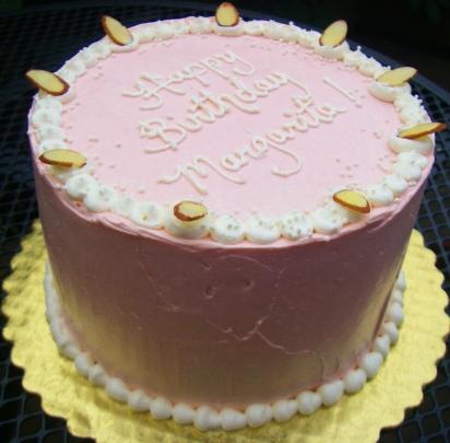 Marzipan cake for a birthday girl