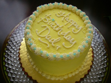 Mini mango birthday cake
