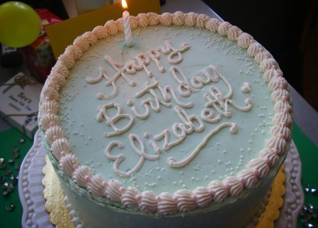 Pistachio birthday cake