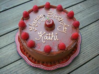 Double chocolate birthday cake