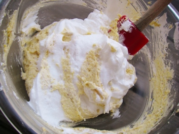 Adding egg whites to batter