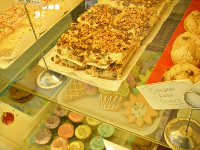 Pastry case at Sweet Mandy B's