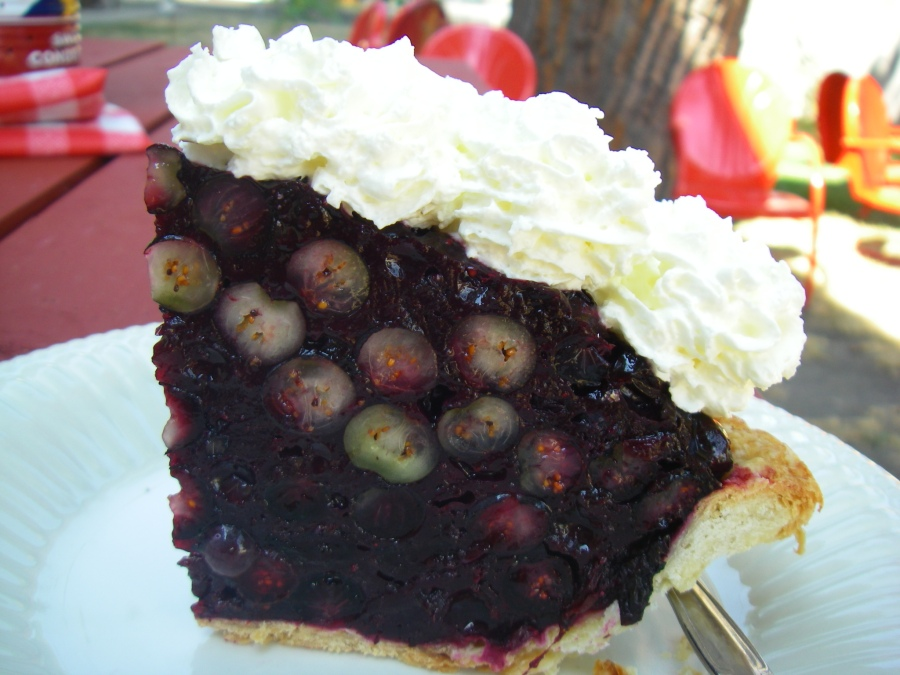 Blueberry pie at Bang Bang