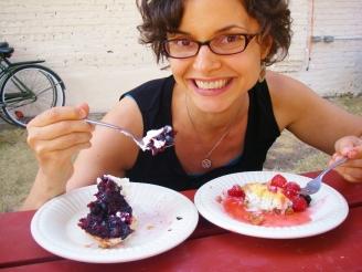 Moriah VanVleet with dessert
