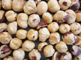Toasted and peeled nuts
