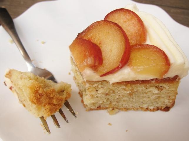 Slive of hazelnut cake