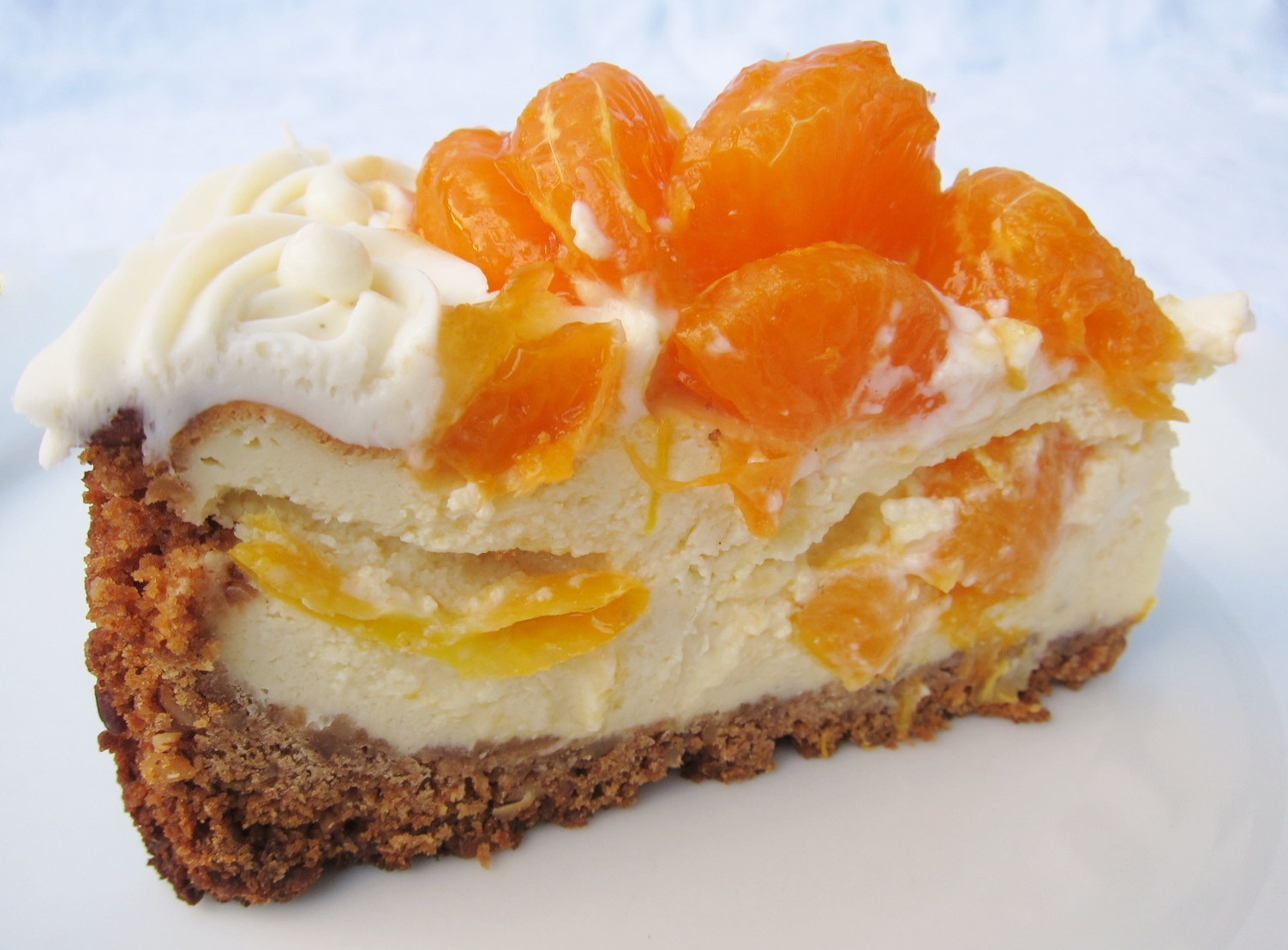 Mandarin orange cheesecake (10) | butter, sugar, flowers