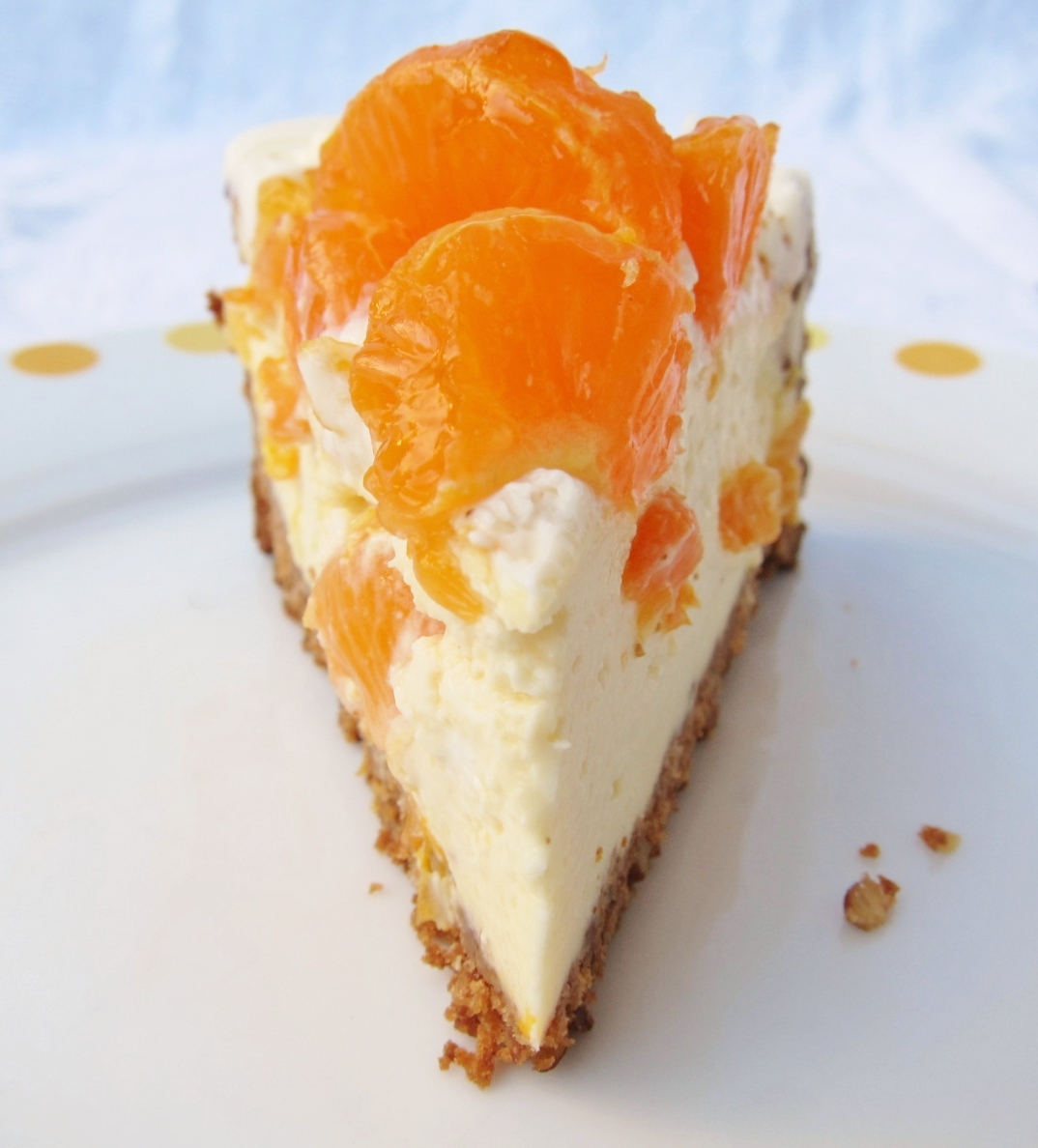 Mandarin orange cheesecake (12) | butter, sugar, flowers