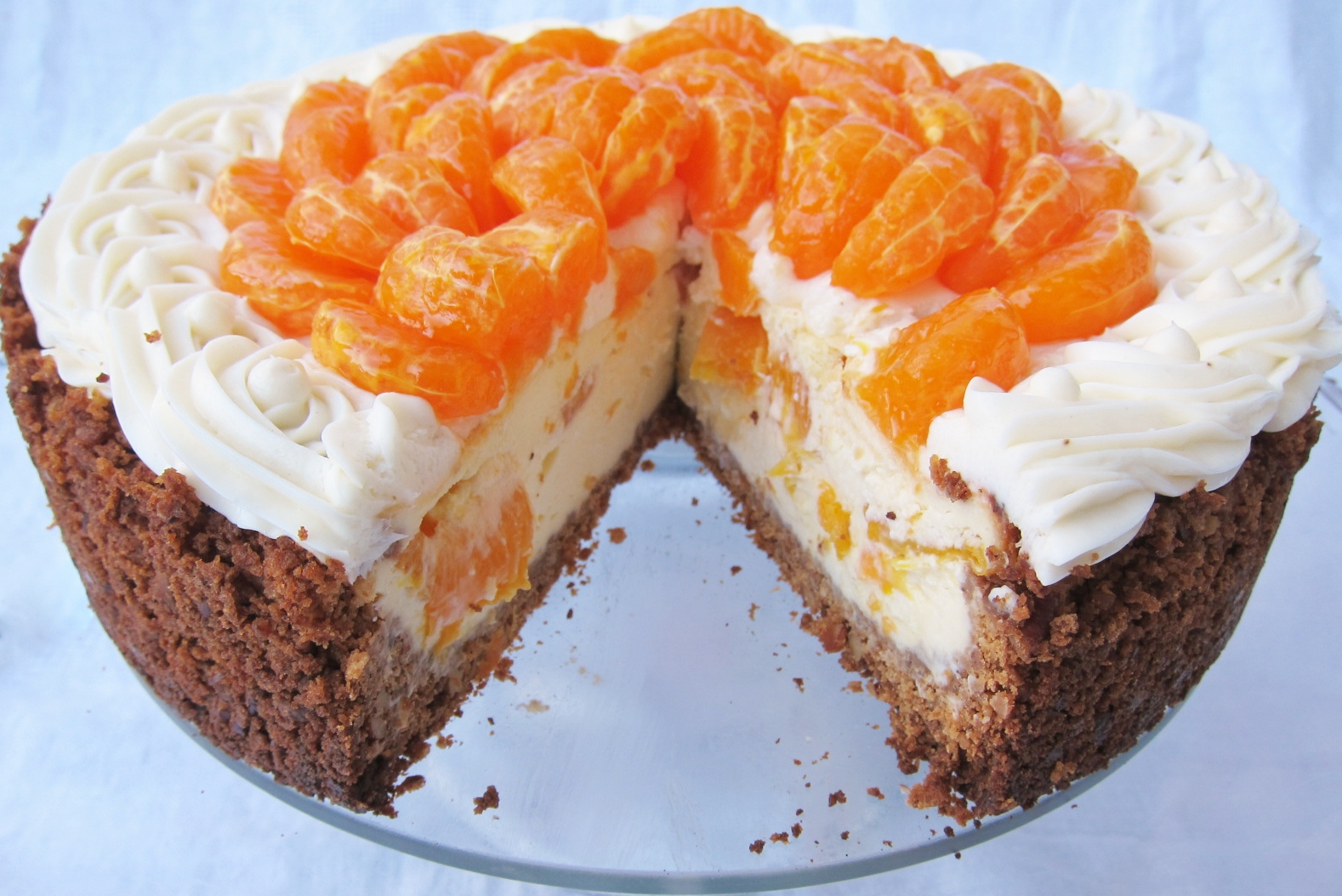Mandarin orange cheesecake (14) | butter, sugar, flowers