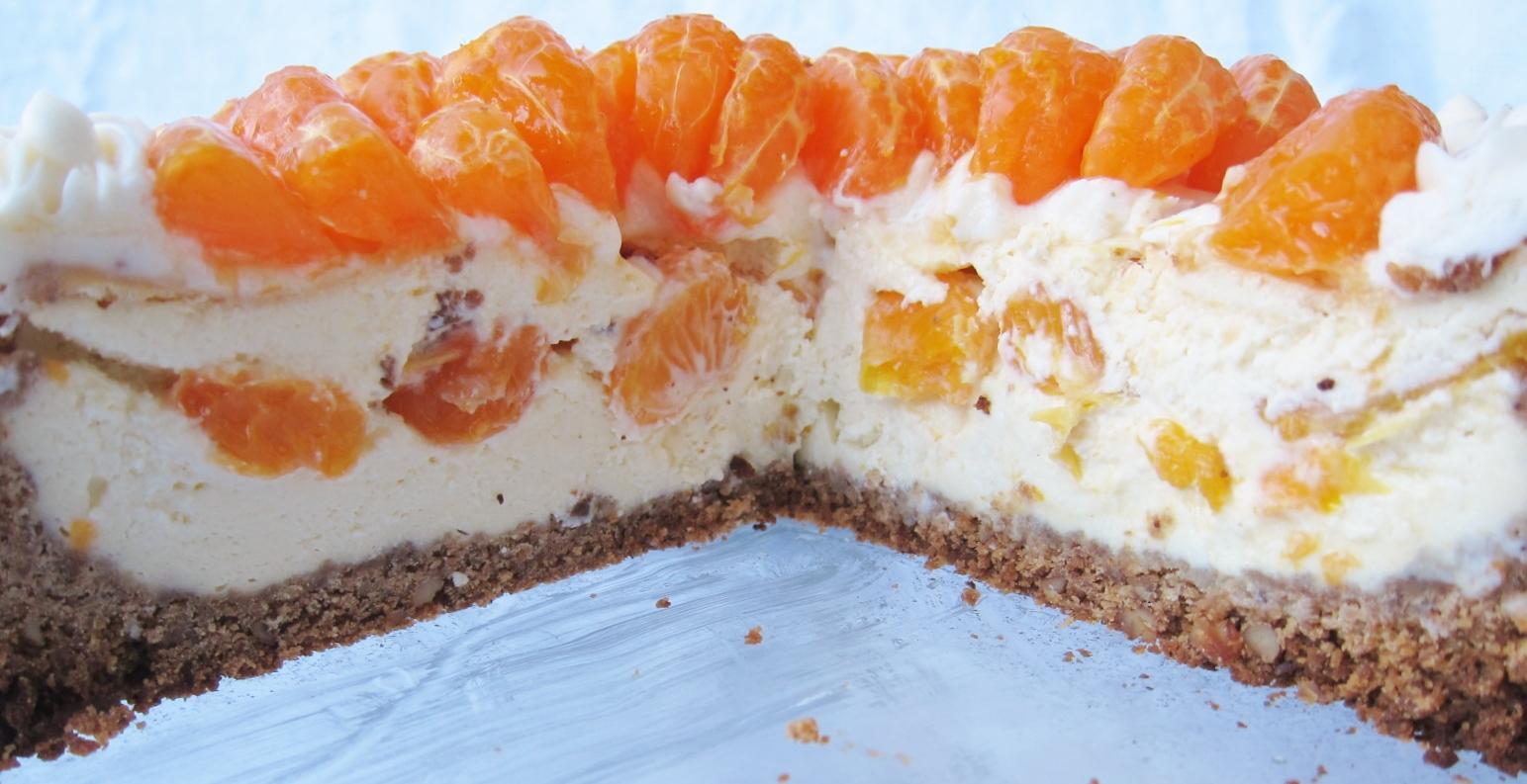 Mandarin orange cheesecake (15) | butter, sugar, flowers