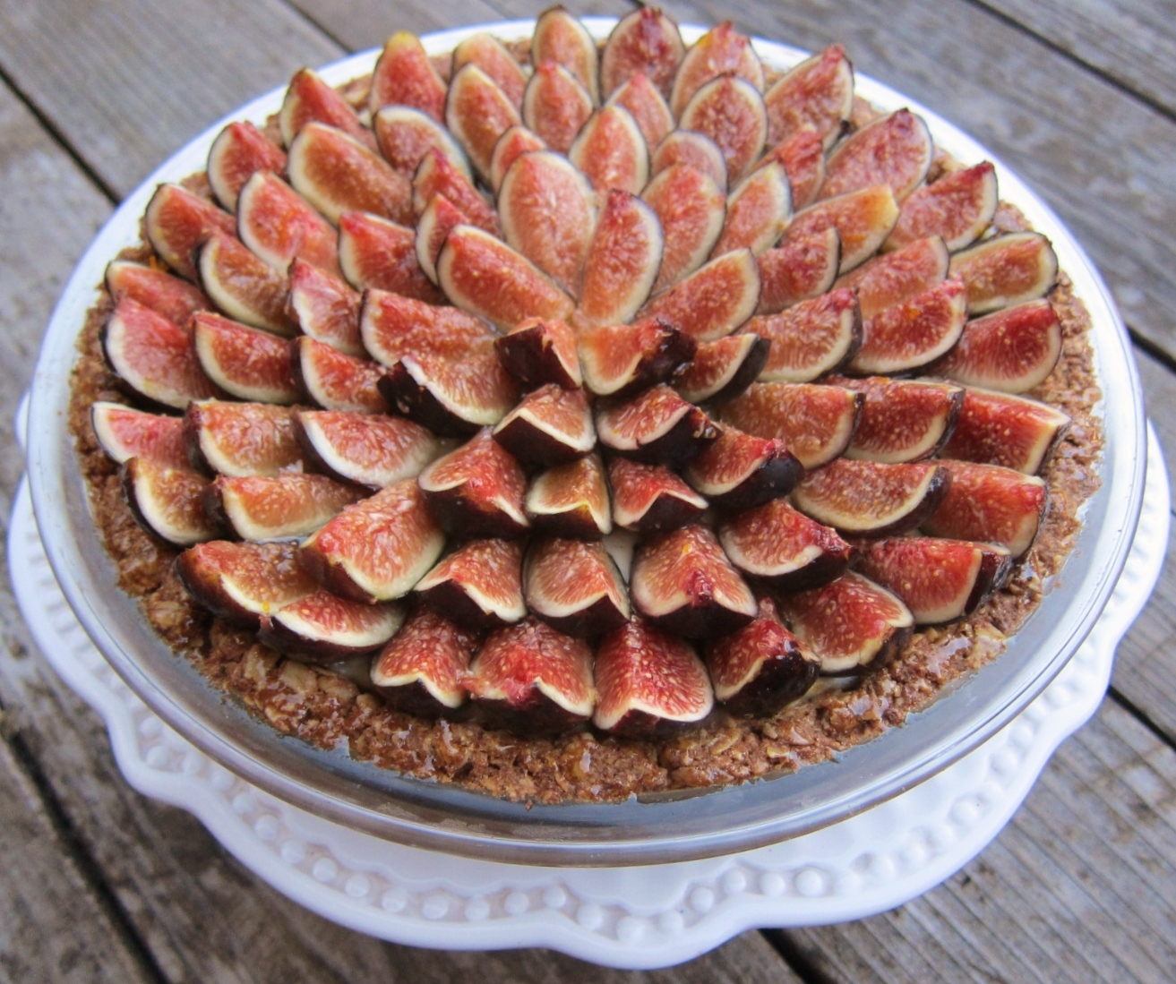 fresh fig tart with orange flower custard recipes dishmaps fresh fig ...