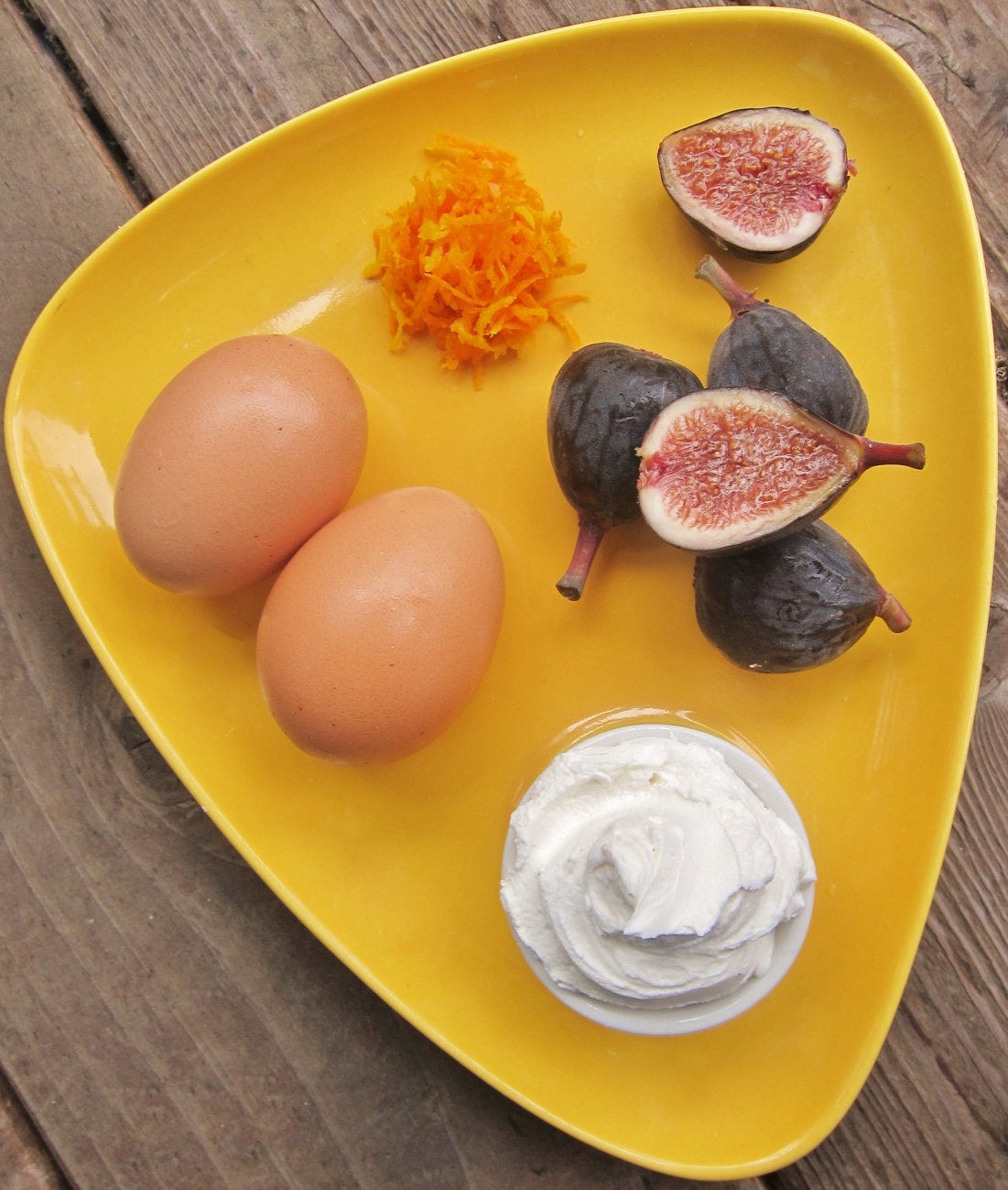 Fresh Fig Tart With Orange Flower Custard Recipes — Dishmaps