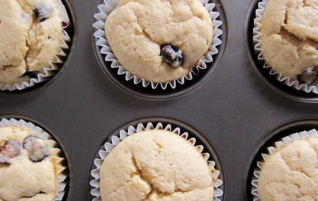Blueberry Bourbon Basil Cupcakes (8)