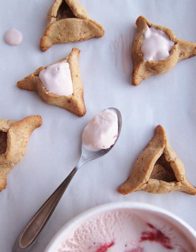 Ice Cream Hamantaschen with Rosemary Almond dough (4)