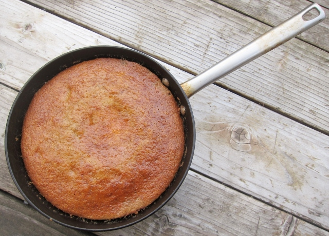 Rhubarb Banana Skillet Cake (3)